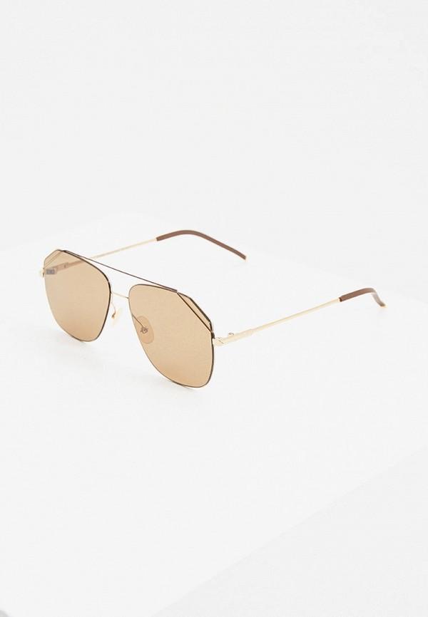 мужские авиаторы солнцезащитные очки fendi, коричневые