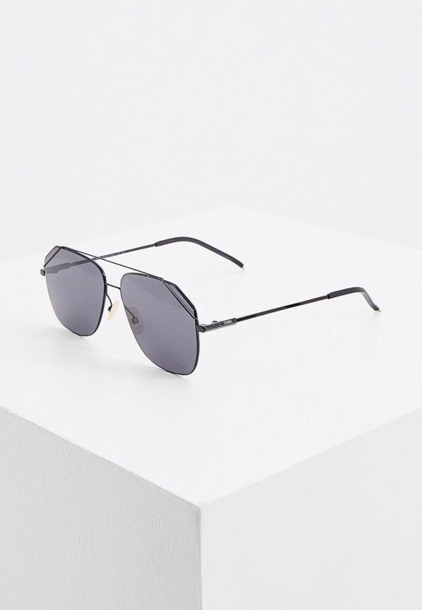 Очки солнцезащитные Fendi черного цвета