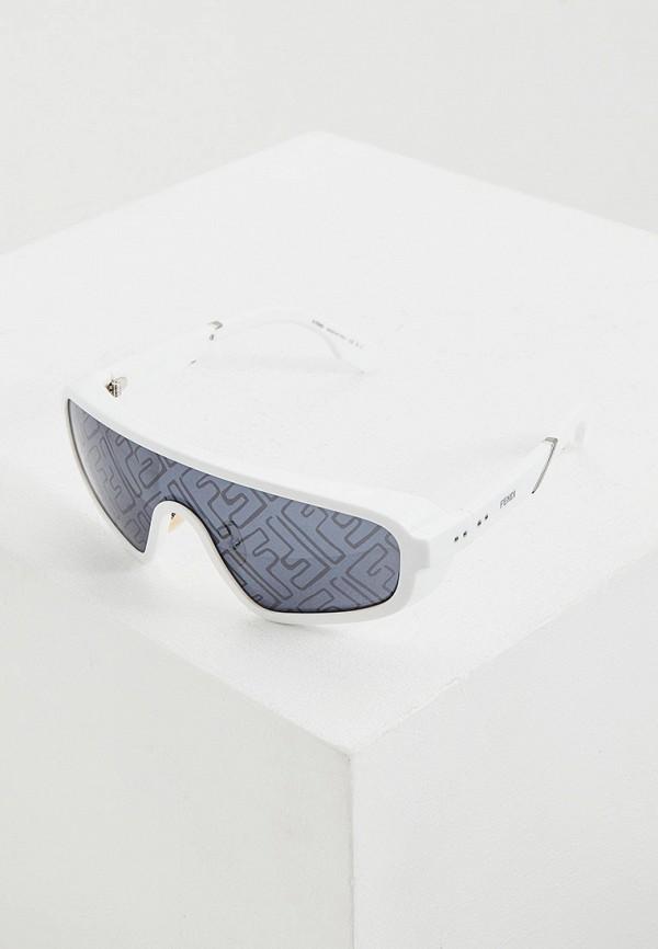 мужские солнцезащитные очки fendi, белые
