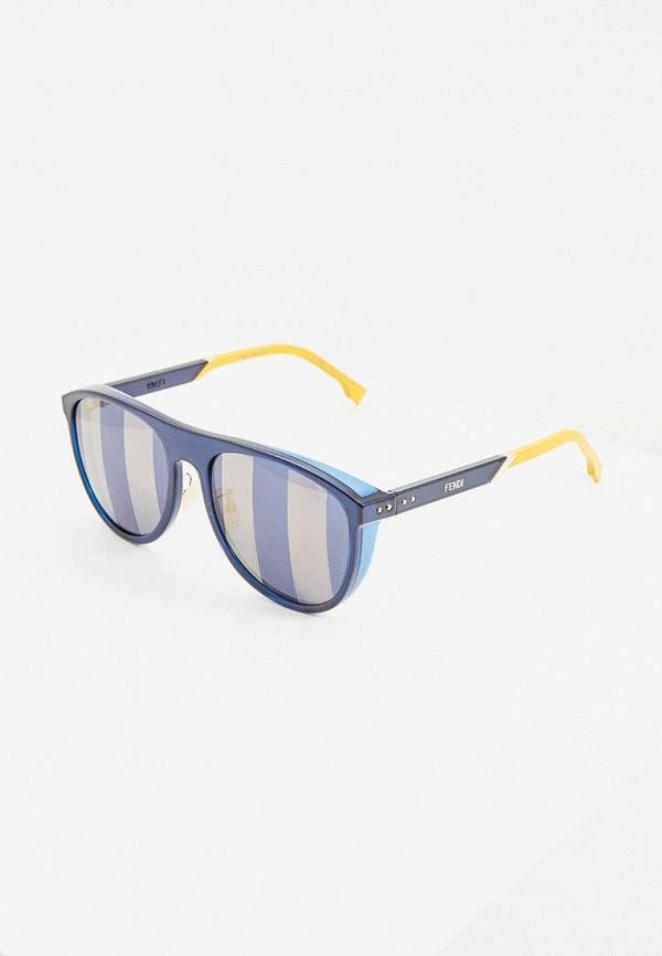 мужские круглые солнцезащитные очки fendi, синие