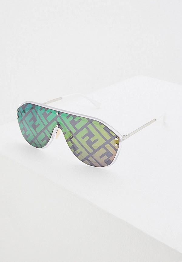 женские авиаторы солнцезащитные очки fendi, разноцветные