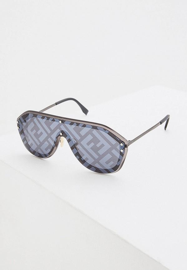 женские авиаторы солнцезащитные очки fendi, серые