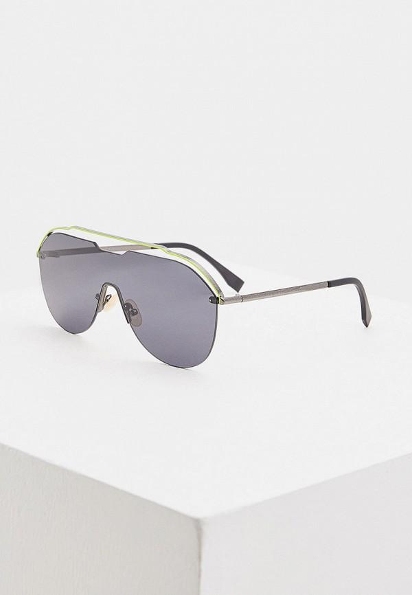 женские авиаторы солнцезащитные очки fendi, зеленые