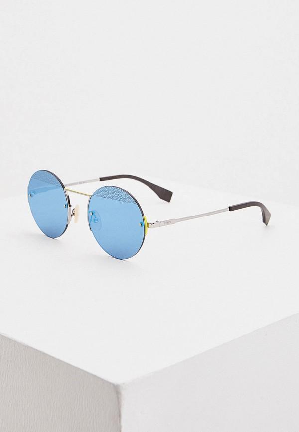 женские солнцезащитные очки fendi, серебряные