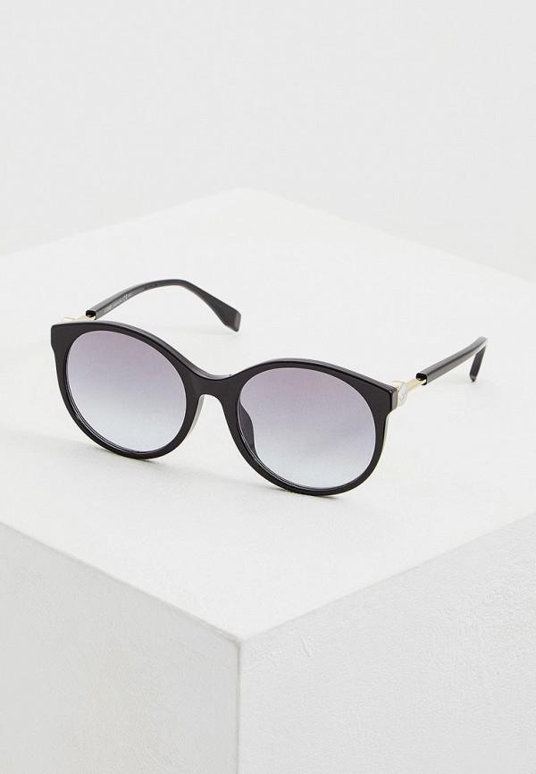 женские солнцезащитные очки fendi, черные