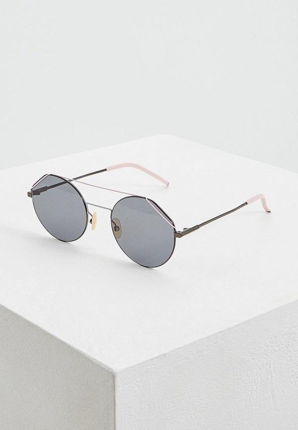 женские солнцезащитные очки fendi, розовые