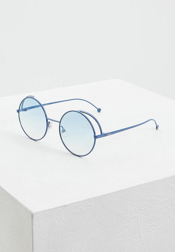 женские солнцезащитные очки fendi, синие