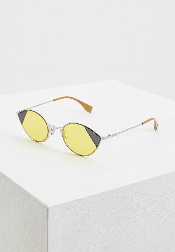 женские солнцезащитные очки fendi, желтые