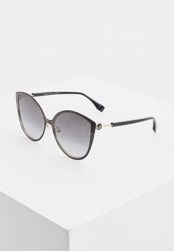 женские солнцезащитные очки кошачьи глаза fendi, черные