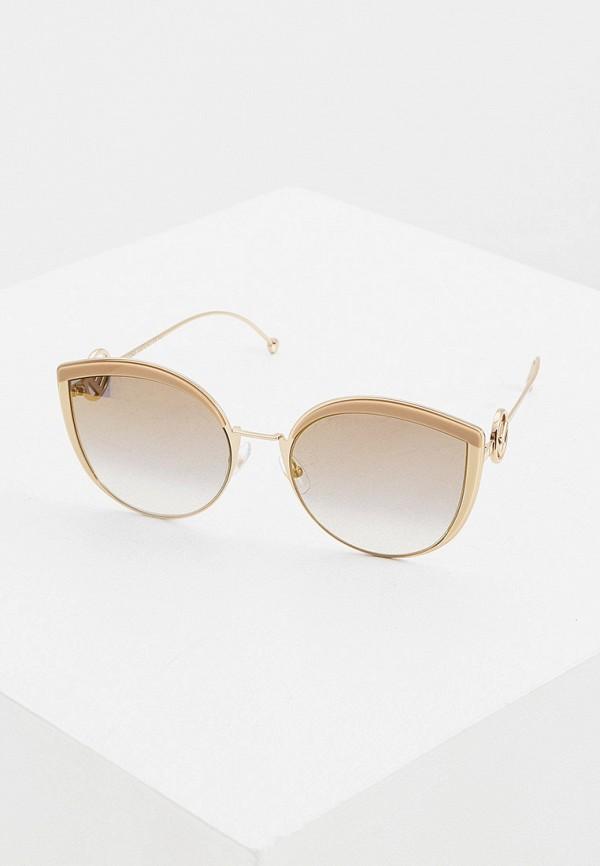 женские солнцезащитные очки кошачьи глаза fendi, разноцветные
