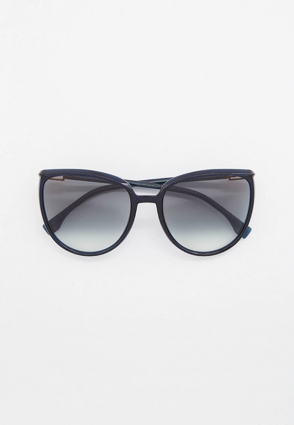 женские круглые солнцезащитные очки fendi, синие