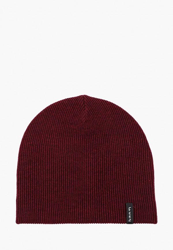 мужская шапка ferz, бордовая