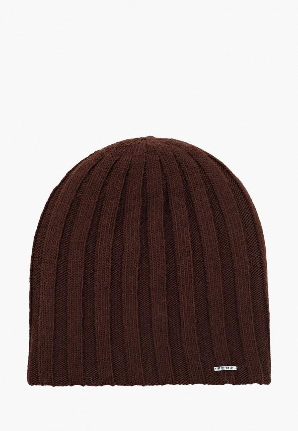 мужская шапка ferz, коричневая