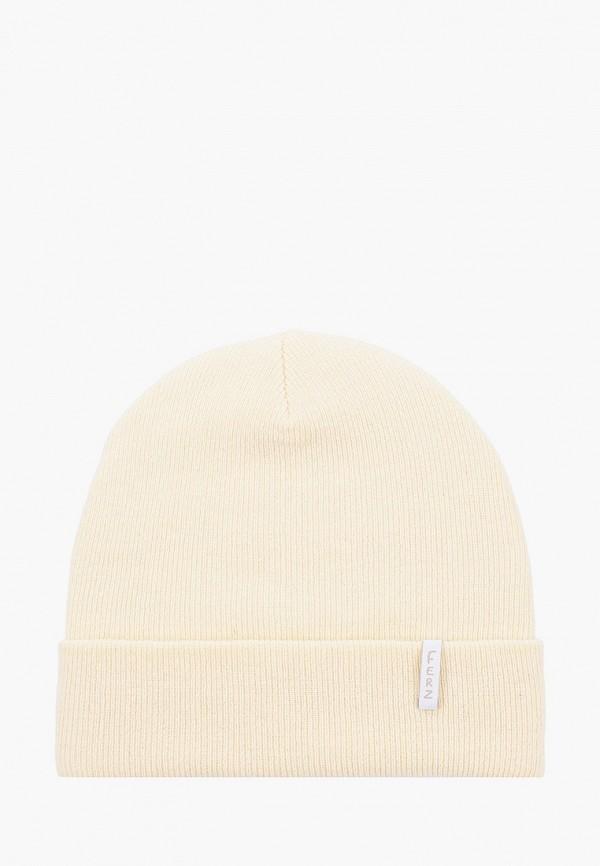 женская шапка ferz, белая