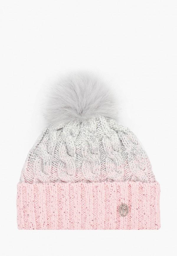 женская шапка ferz, розовая