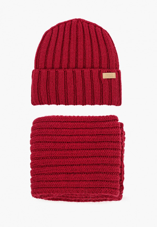 женский шарф ferz, бордовый