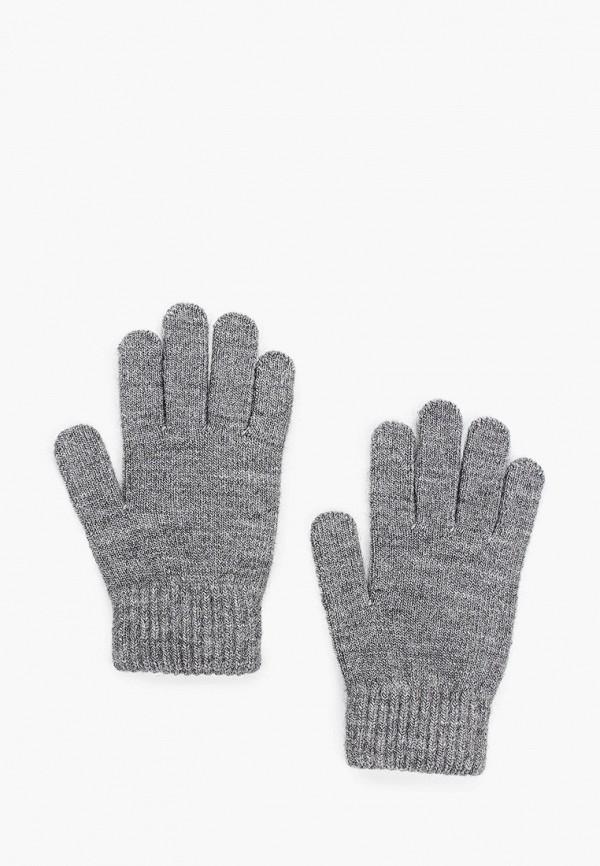 Фото - женские текстильные перчатки Ferz серого цвета