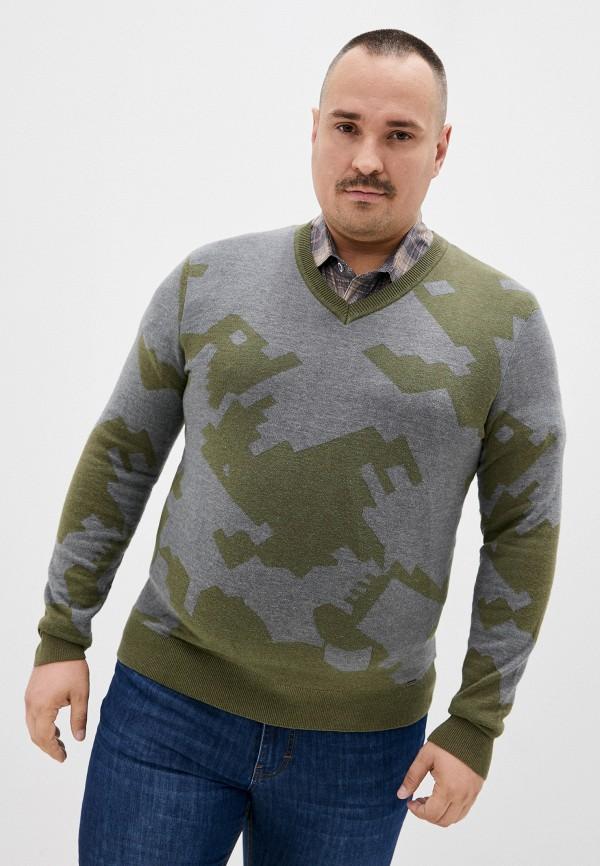 мужской пуловер finn flare, хаки
