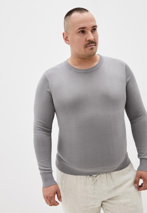 мужской джемпер finn flare, серый