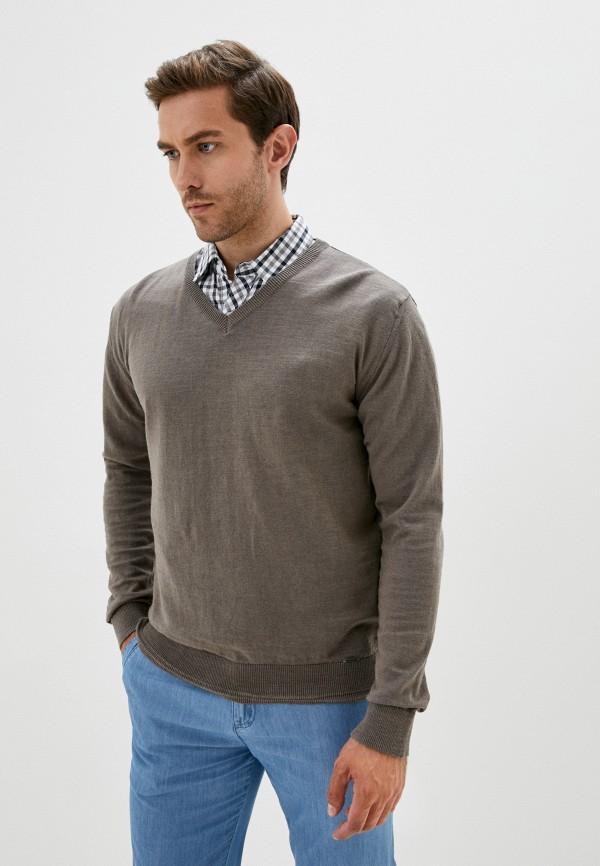 мужской пуловер finn flare, коричневый