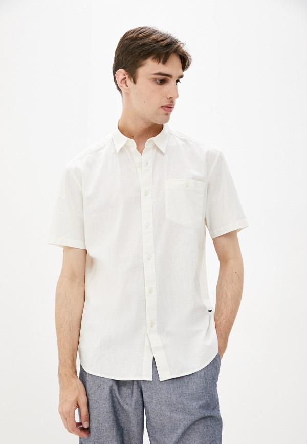 мужская рубашка с коротким рукавом finn flare, бежевая