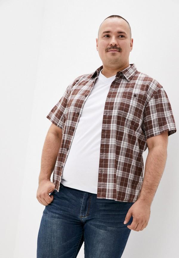 мужская рубашка finn flare, коричневая