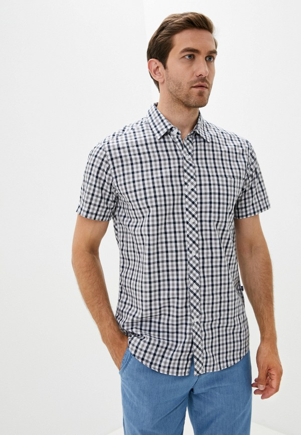 мужская рубашка с коротким рукавом finn flare, серая