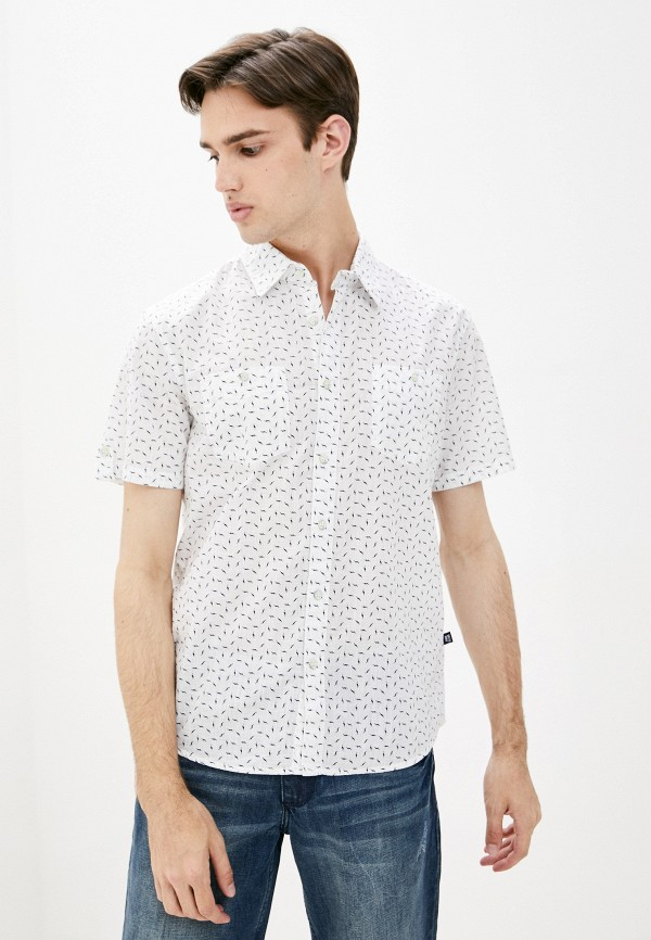 мужская рубашка с коротким рукавом finn flare, белая