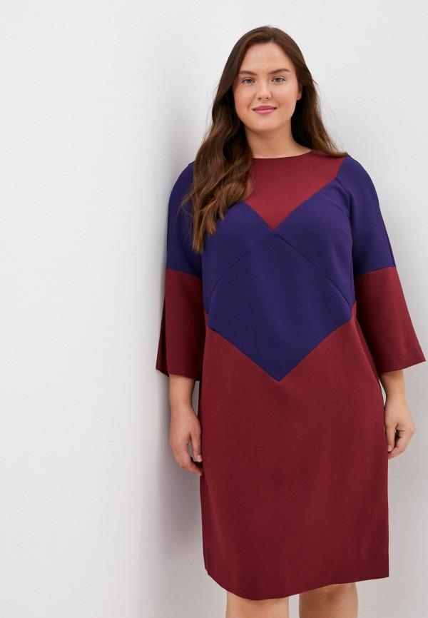 женское платье-футляр finn flare, бордовое