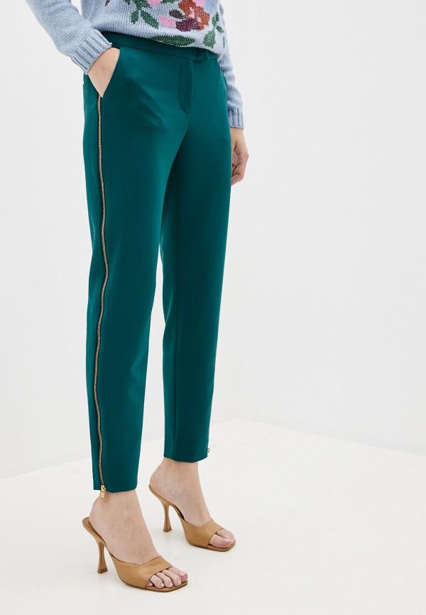 женские повседневные брюки finn flare, зеленые