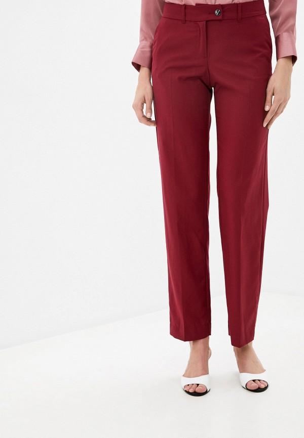 женские классические брюки finn flare, бордовые