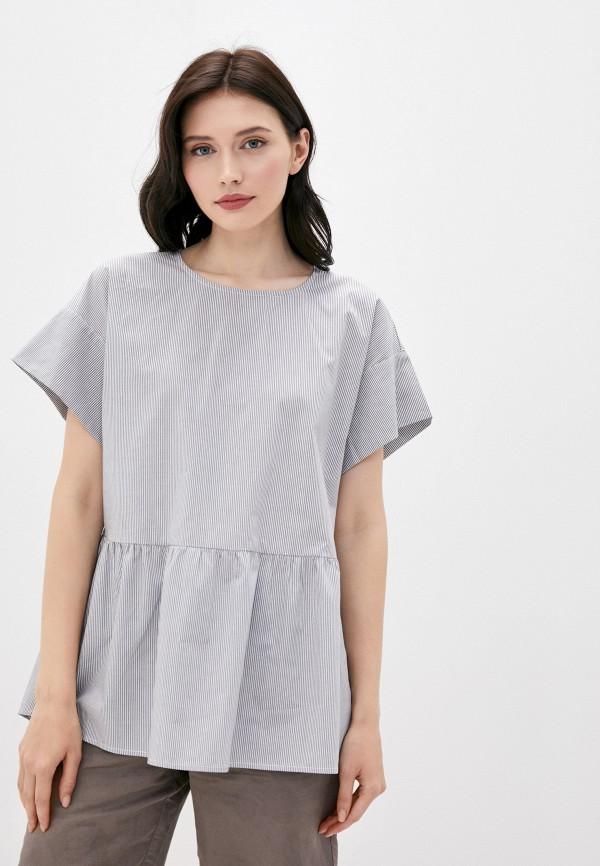 женская блузка finn flare, серая