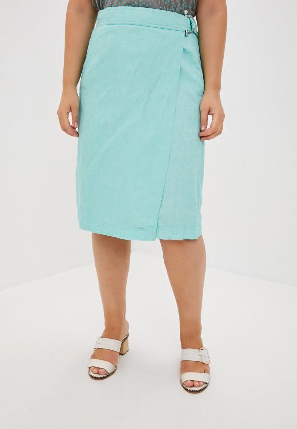 женская прямые юбка finn flare, зеленая