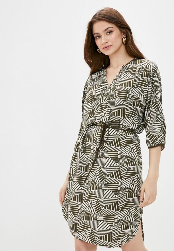 женское повседневные платье finn flare, хаки