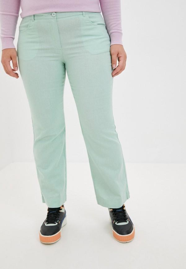 женские прямые брюки finn flare, зеленые
