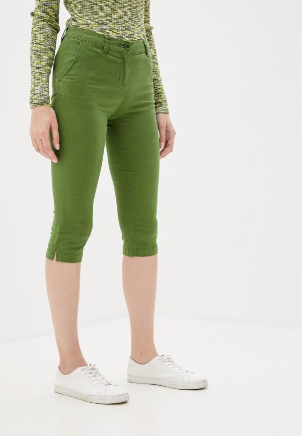 женские капри finn flare, зеленые