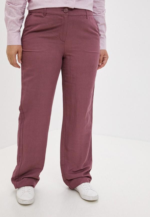 женские прямые брюки finn flare, бордовые