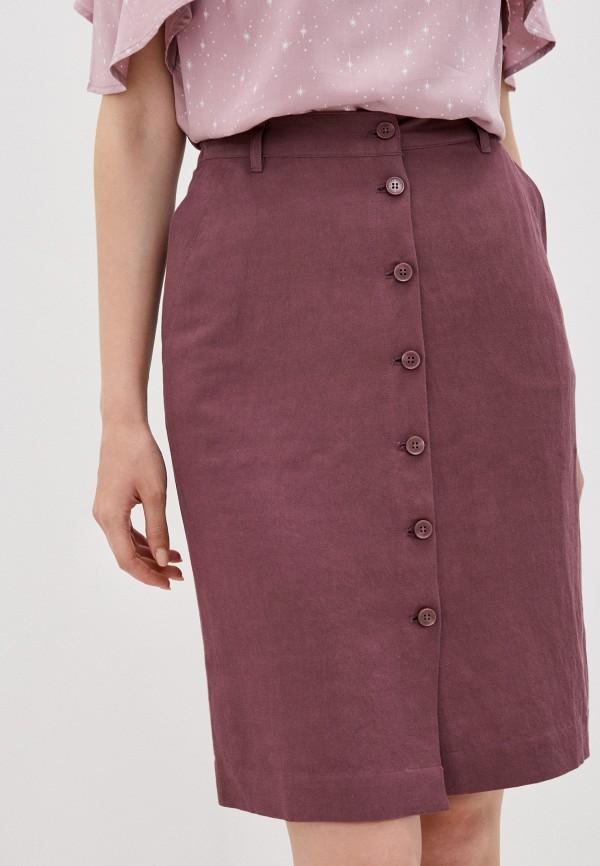 женская прямые юбка finn flare, бордовая