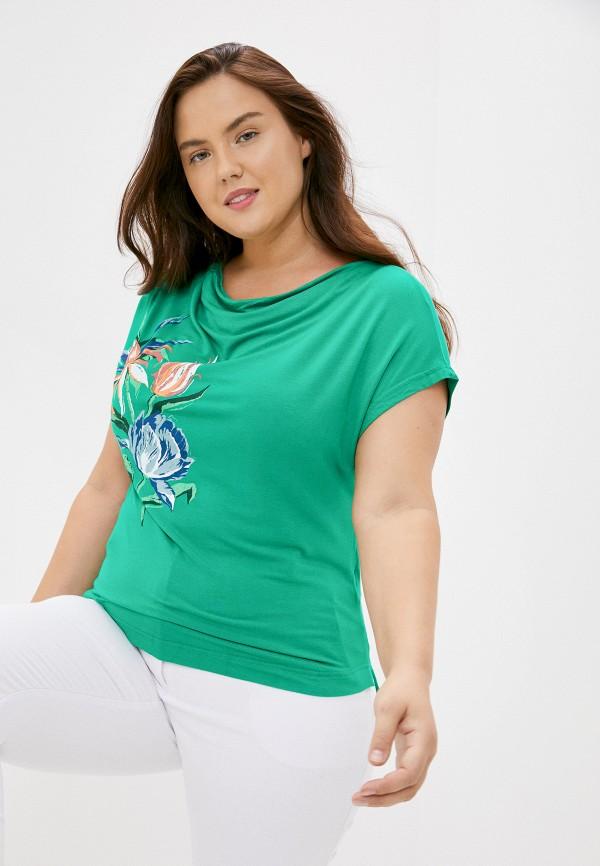 женская футболка finn flare, зеленая