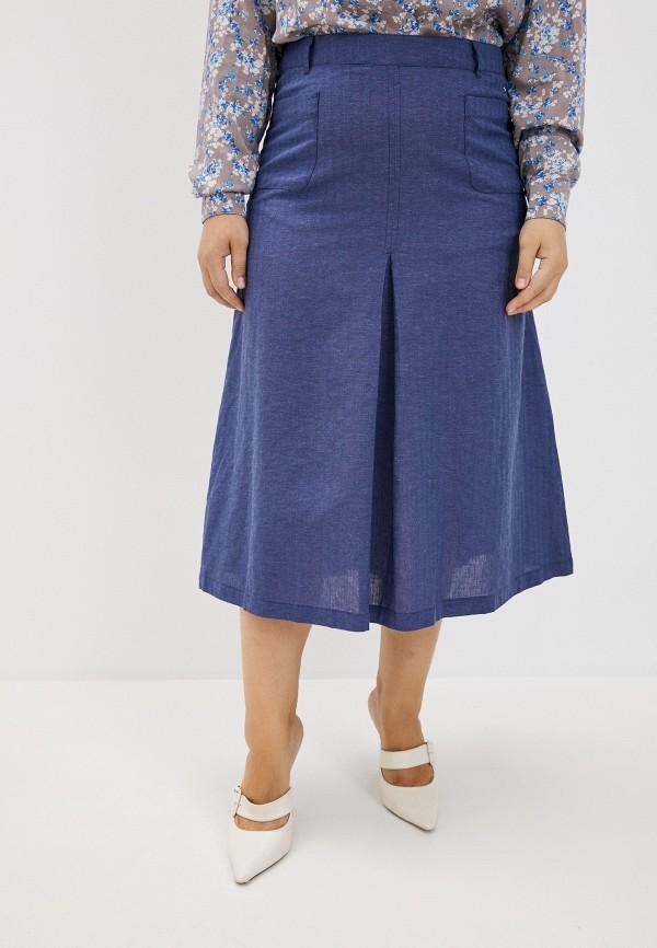 женская юбка finn flare, синяя