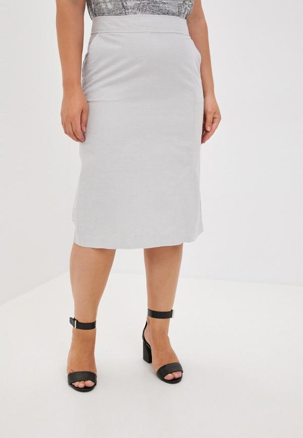 женская прямые юбка finn flare, серая