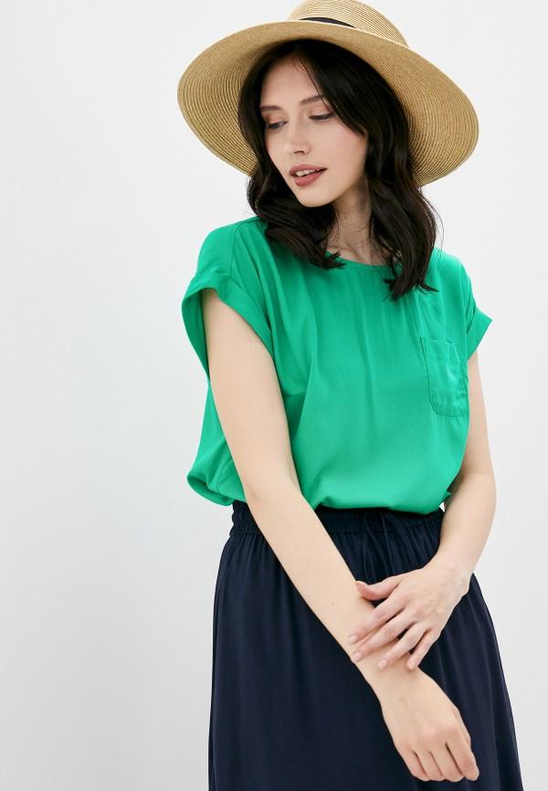 женская блузка finn flare, зеленая