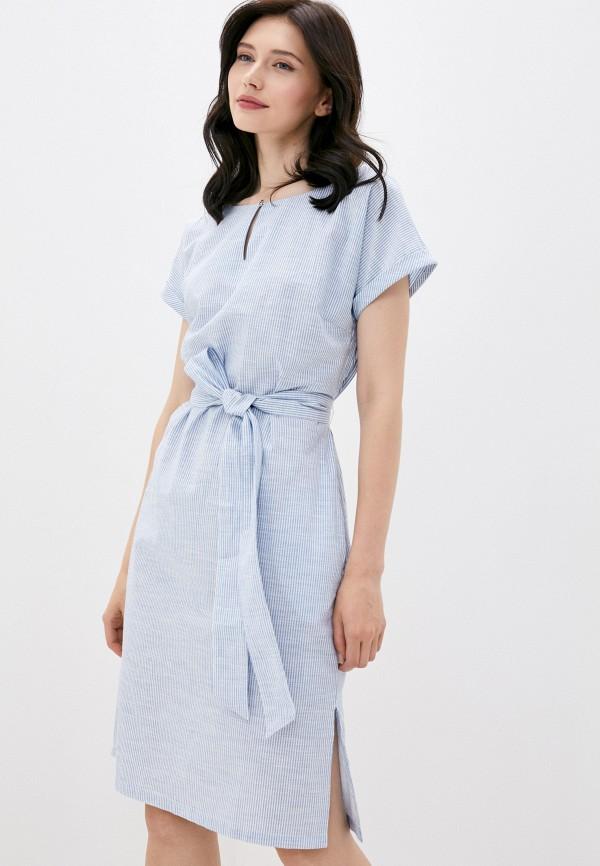 женское повседневные платье finn flare, голубое