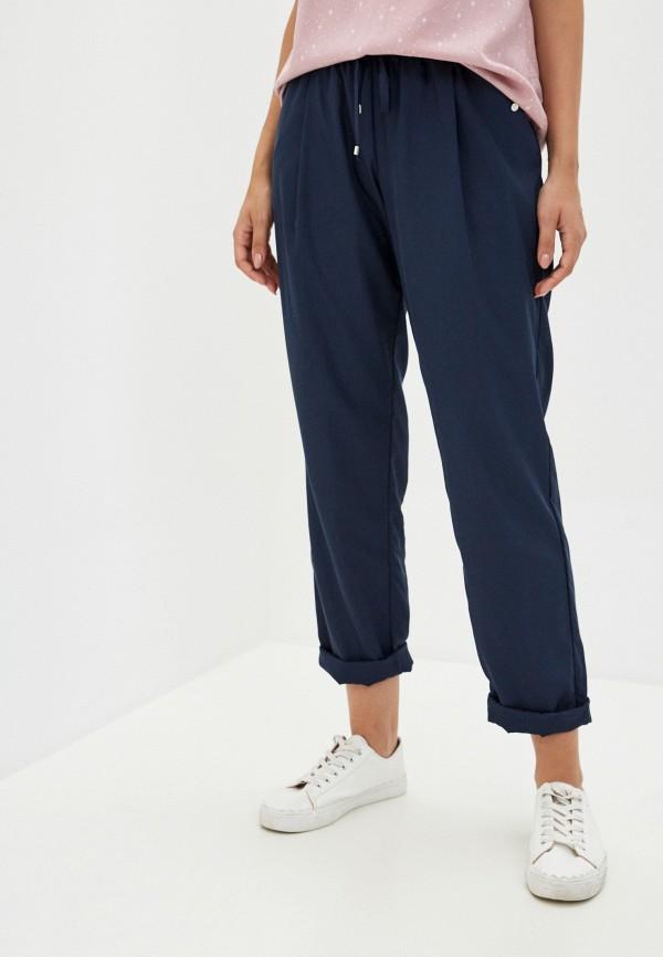 женские прямые брюки finn flare, синие