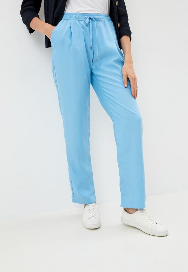 женские брюки finn flare, голубые