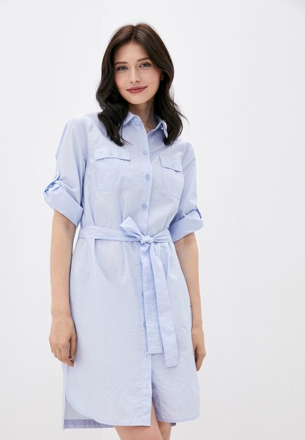 женское платье finn flare, голубое