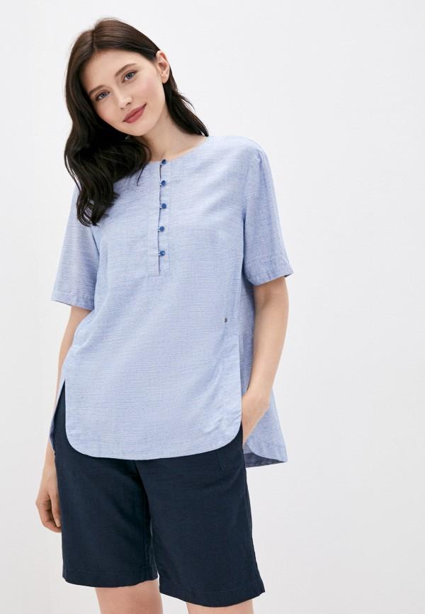 женская блузка finn flare, голубая
