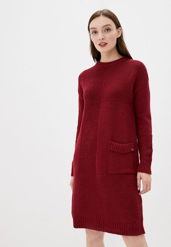 женское платье finn flare, бордовое