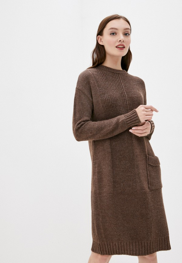 женское платье finn flare, коричневое