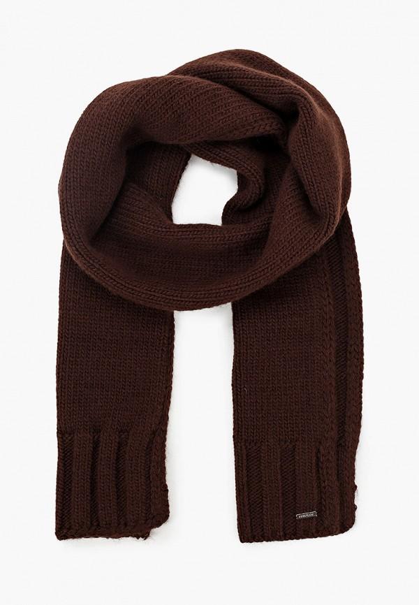 мужской шарф finn flare, коричневый